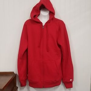 NWOT Starter Red Zip Up Hoodie Small